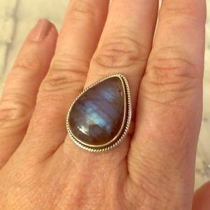 Labradorite ring in Sterling Silver
